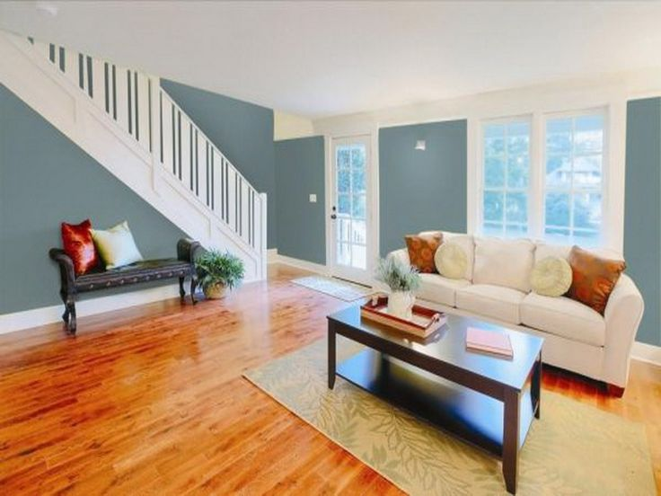 Warm wood floor color cool wall color for the home for Carpet and paint color combinations