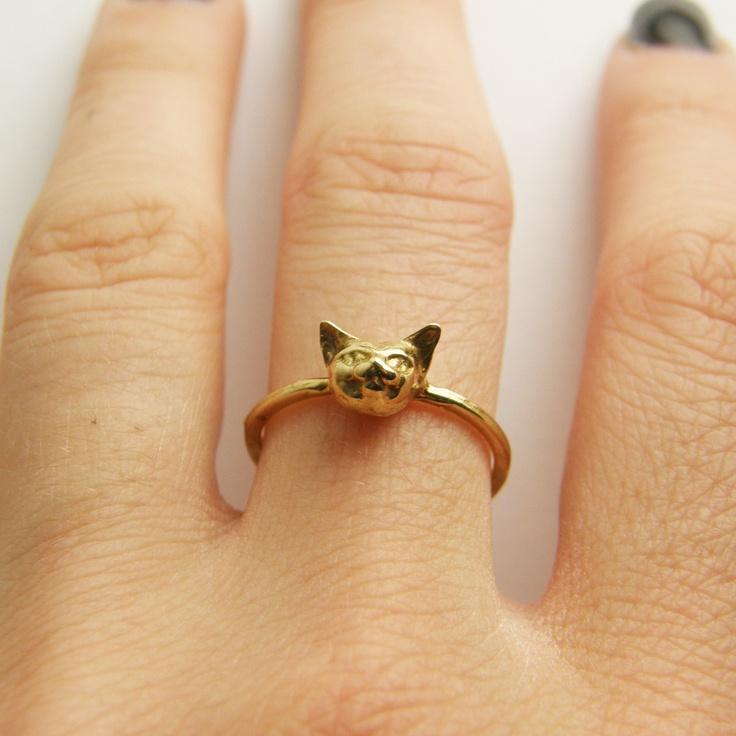 Cheshire Kitty Ring
