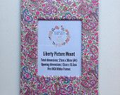 Liberty Art Fabric Picture Mount ~ Fits A4 Frame ~ Home Desk Decor Gift Wall Art ~ Pink Purple Paisley Print Charles.  Shop Rhapsody and Thread via Etsy.