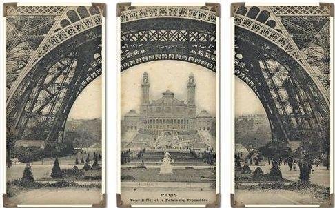 The Classy Cottage: 3 different frames. http://www.houzz.com/photos/977664/Uttermost-Eiffel-Tower-Iron-Works-S-3-mediterranean-artwork-charlotte