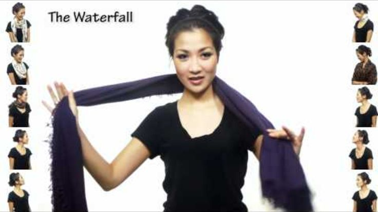 25 Different Ways to Wear a Scarf, in One 5-Minute Video. I've seen a lot of these kinds of things, but this is by far the best.