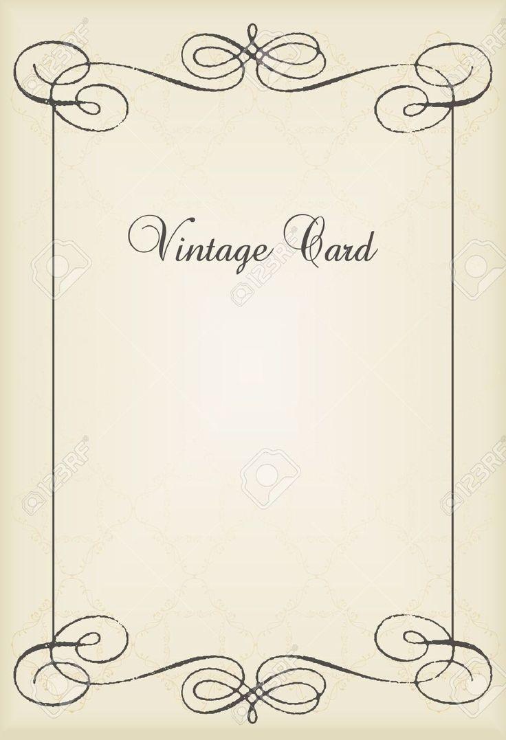 Vintage Book Cover Frame : Vintage vector decorative frame for book cover or card