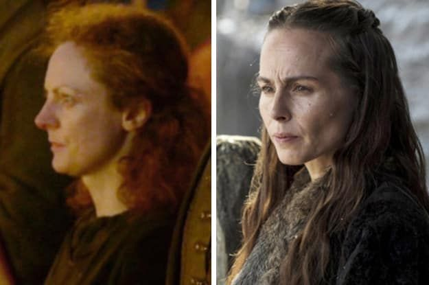 When we first saw Stannis Baratheon's wife, she was played by Sarah MacKeever and was essentially a background actor in a single scene in the Season 2 premiere. Later, in Season 3, Selyse was introduced as a named character, and was recast with Tara Fitzgerald in the role.