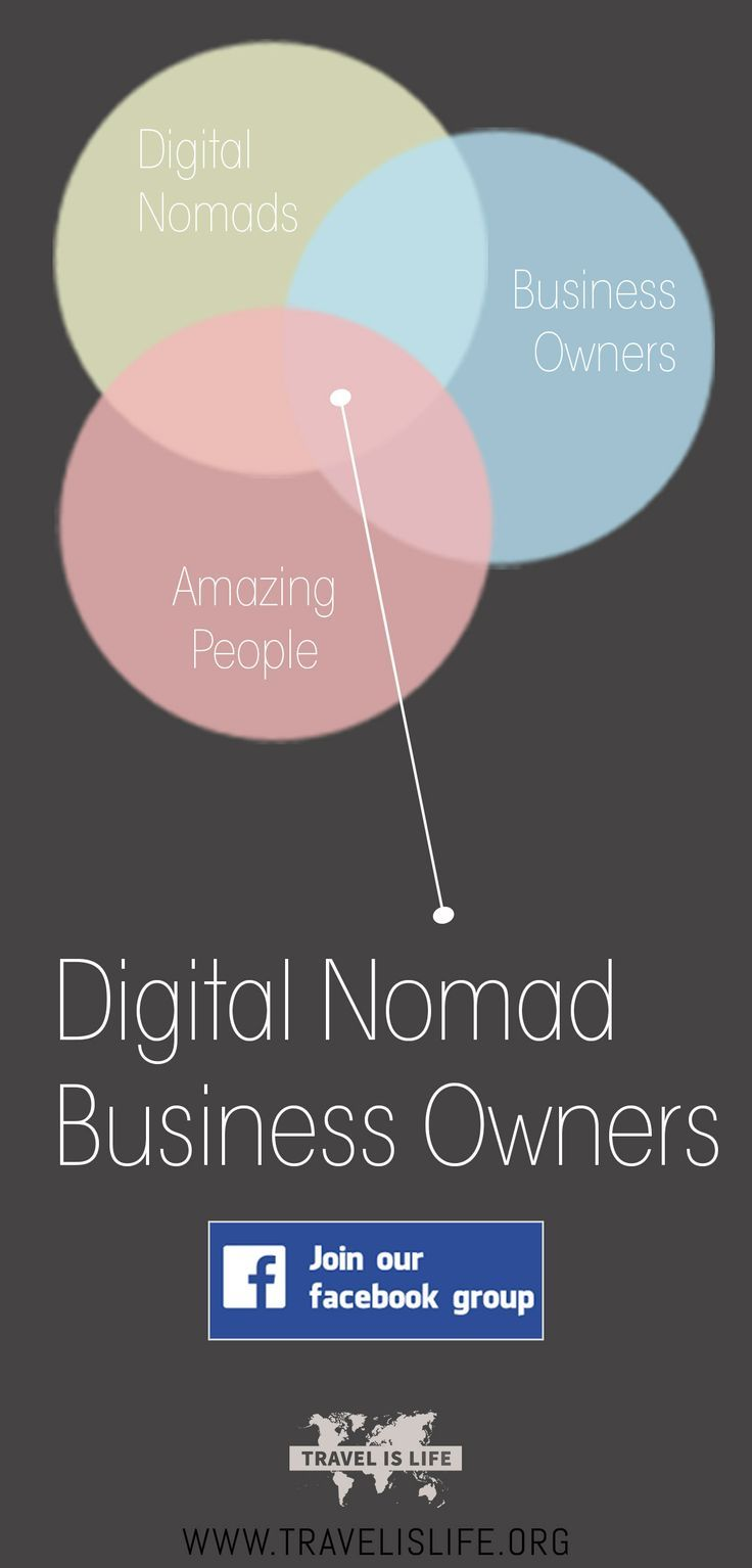 The mission of the Digital Nomad Business Owners group on Facebook is to connect digital nomad business owners around the world (wherever they may be) to network, share advice, and help each other out.