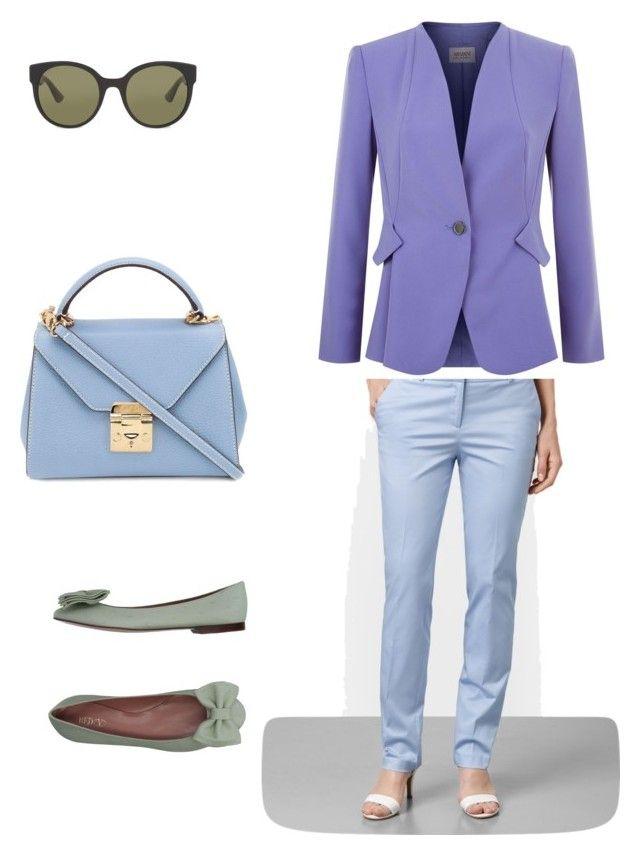 Color Set 2 Аналоговая by elena230-1 on Polyvore featuring мода, Armani Collezioni, RED Valentino, Mark Cross and Gucci