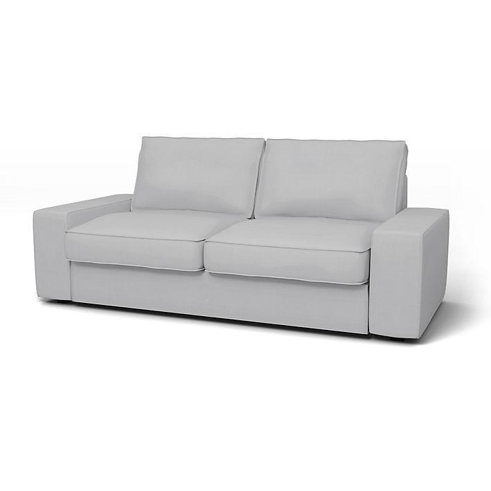 Kivik Housses De Canapes 2 Places Regular Fit Utiliser Le Tissu Panama Cotton Silver Grey Housse Canape Canape 2 Places Canape