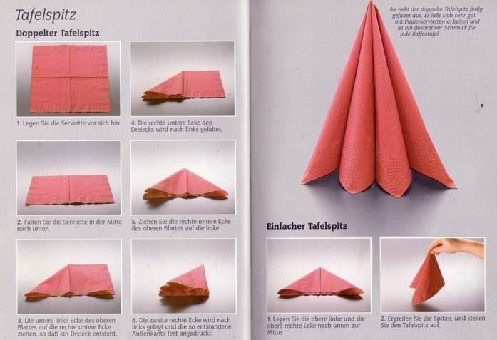 Fold a Fancy Napkin DIY: Napkin Folds