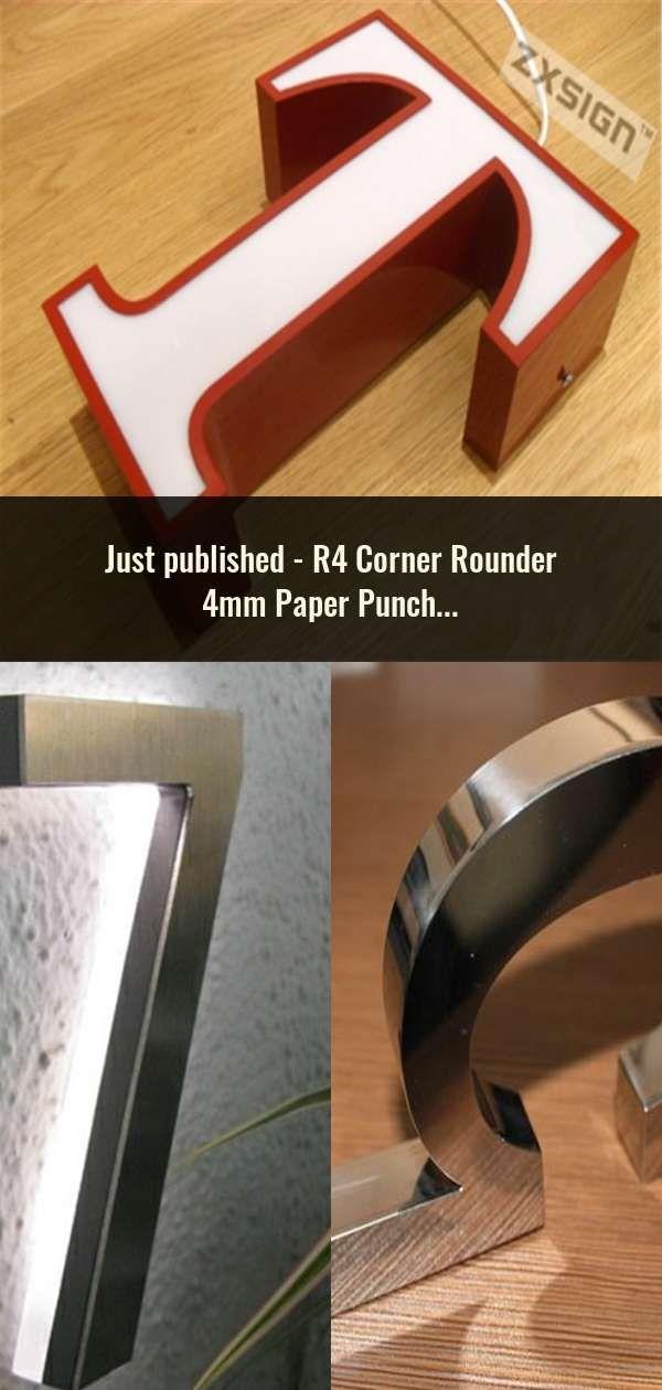 R4 Corner Rounder 4mm Paper Punch Card Photo Cutter Tool Craft Scrapbooking Diy