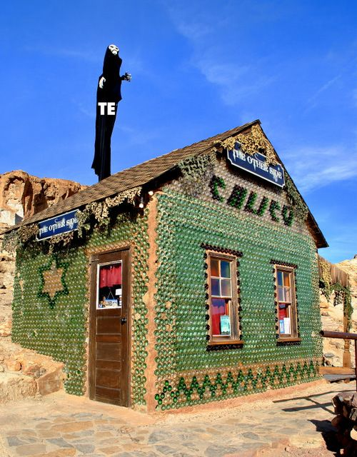 House Made Of Glass Bottle Calico California Copyright
