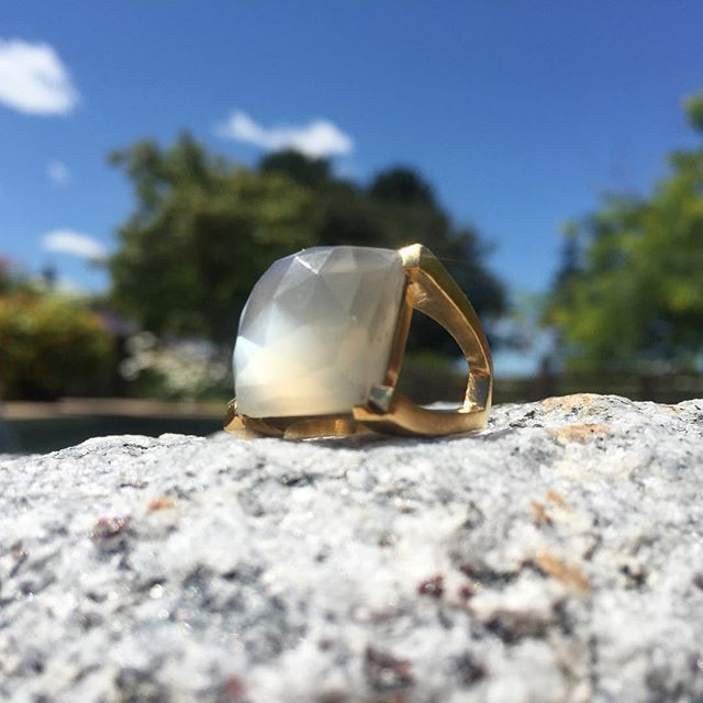 The Plaza Ring is back in Grey Moonstone. #DeanDavidson #classic - See more at: http://iconosquare.com/viewer.php#/detail/1034893684578758558_4761834