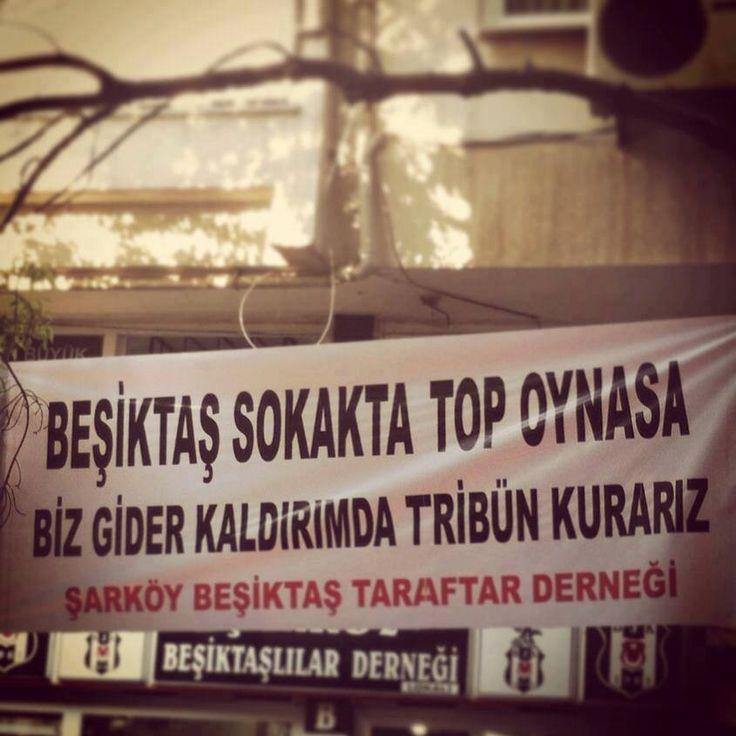 #Besiktas Sokakta Top Oynasa Biz Gider Kaldırımda Tribün Kurarız. #carsi #bjk #beşiktaşjk