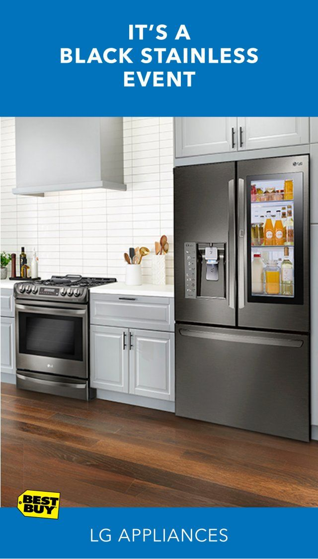 LG offers a variety of finishes to complement any kitchen décor. New finishes like black stainless steel add drama to any space for a contemporary look that performs beautifully. Consider a slide-in ProBake gas convection range or InstaView door-in-door refrigerator for one of the hottest looks in kitchen design. Take advantage of our free in-home consultation services, plus save up to 30% on Appliances Top Deals thru 3/14/18. Min. savings 5%.