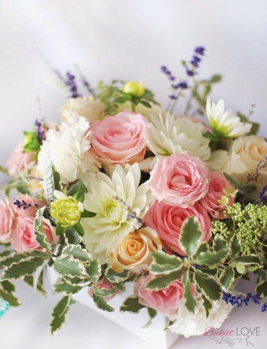 biało-różowe kwiaty na ślub