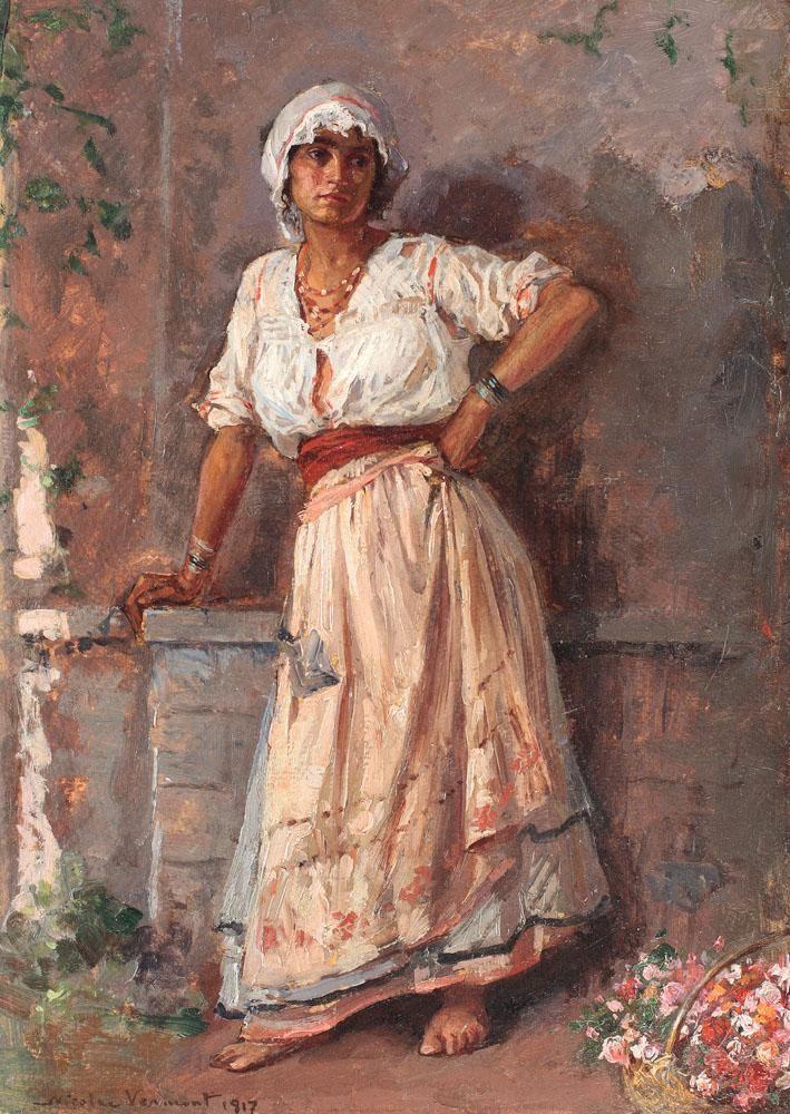 Nicolae Vermont, Flower Girl, 1917