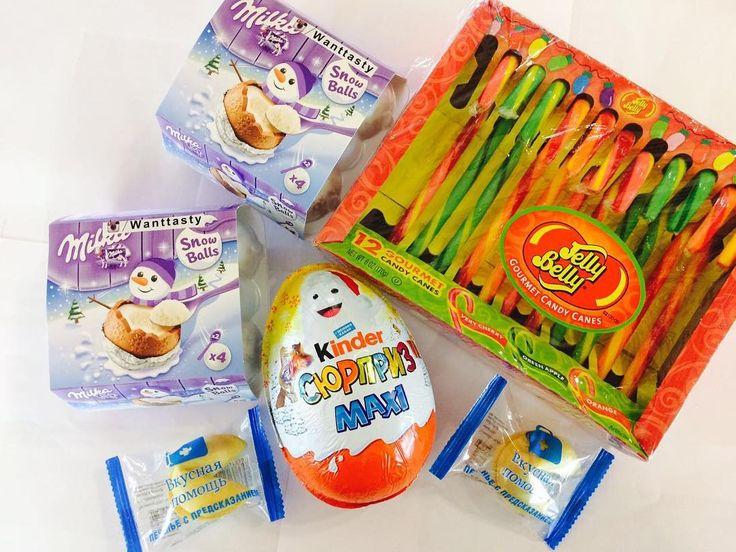 Доброе утро! Приятного вам и яркого дня! Приезжайте мы вас ждём! #wanttasty яйца Milka 4 шт 2 ложечки 479 Kinder Maxi яйцо 329 печенье с предсказанием 49 леденец трость 65 #сладости #необычно