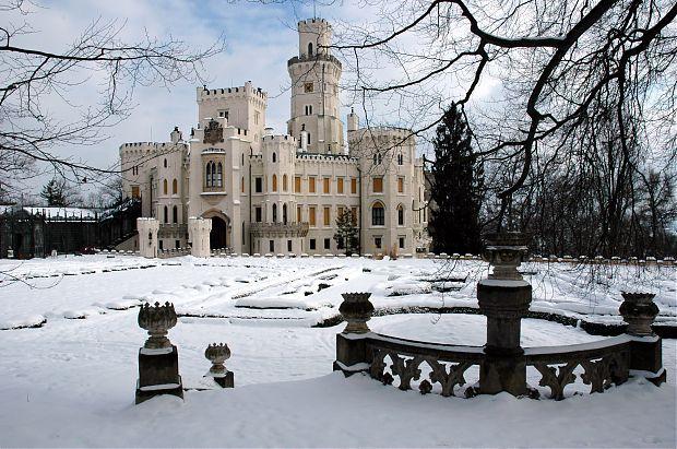 Hluboká nad Vltavou v zimě