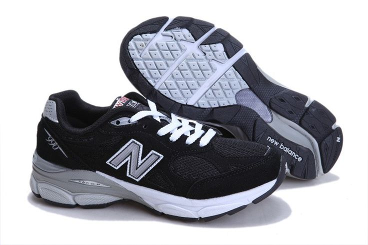 New Balance shoes M990BK president race Black Grey White UK sale