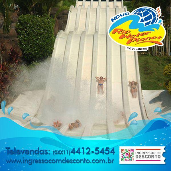 O Parque Aquático Rio Water Planet localizado no Rio de Janeiro traz 42 atrações para todas as idades satisfazendo todos os gostos entre as principais atrações temos: Três rios de correntezas com botes para até 7 pessoas, Teleférico, Piscina com mais de 20 tipos de ondas, rio lento de 700mts, Space Ball, Toboágua K2 com 45mts de queda livre, Canion Ball e a fantástica área infantil Play Kid's com inúmeros brinquedos. Compre agora: www.ingressocomdesconto.com.br  Televendas: (0xx11) 4412-5454