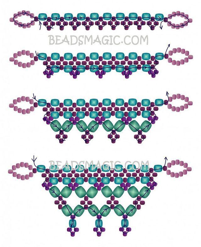 Схема плетения браслета картинки