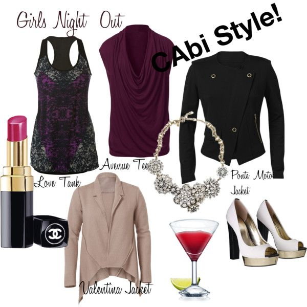 """It's Wednesday, ""hump"" day, made it to the middle of the week day! Time to start thinking about Friday and girls night out day! Add a little CAbi to your girls night out this fall. Women are loving these day to night pairing options from CAbi!"" by andiealtmann on Polyvore"