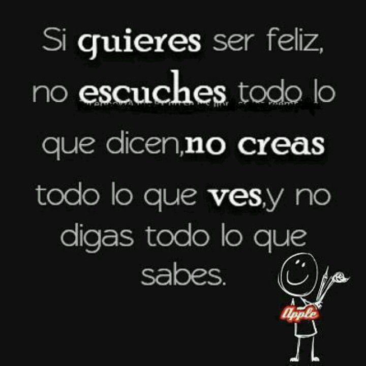 Para ser feliz.