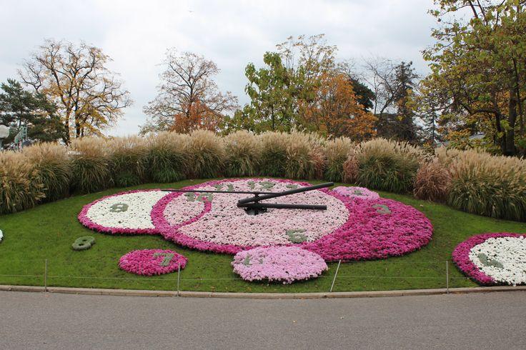 Geneve - L'horloge fleurie