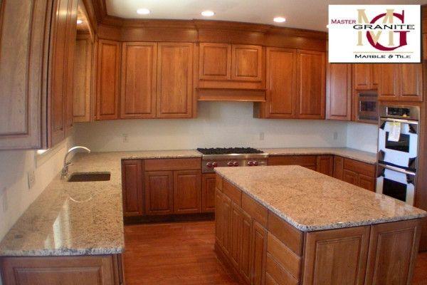 Gold Kitchen Cherry Cabinets