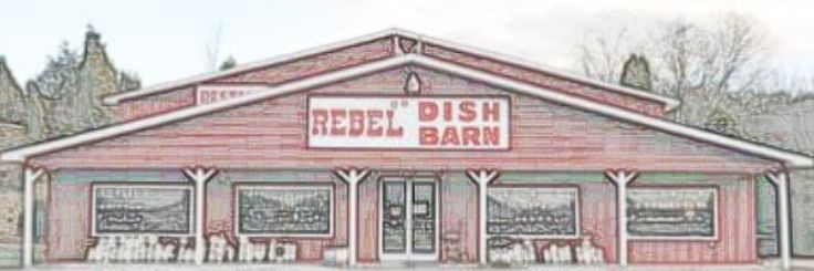 Rebel Dish Barn • Beautiful colored kitchen dishes and other items located in Sevierville TN.