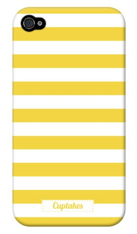 Cuptakes : Yellow Sailor Stripes iPhone case