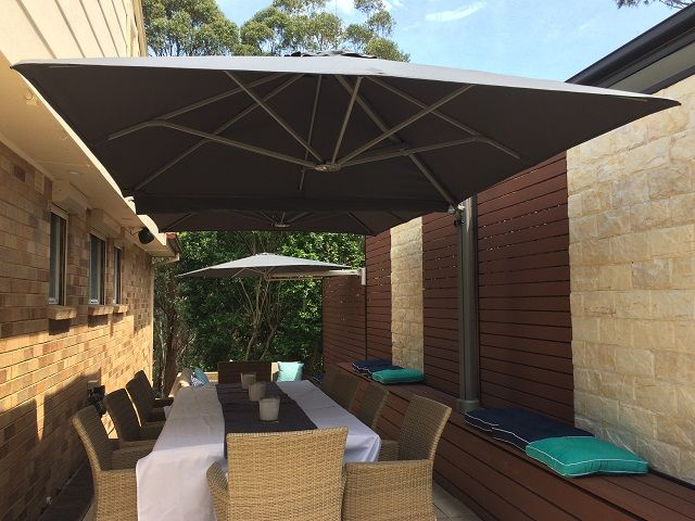 Prostor Wall Mounted Parasol Outdoor