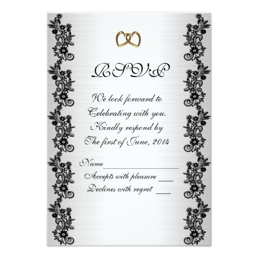 43 best autumn wedding invitations images on pinterest rsvp response card black and white stopboris Image collections