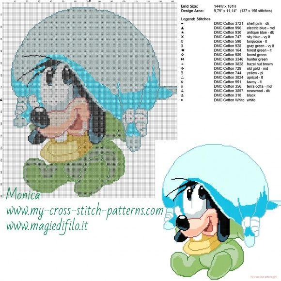 Schema punto croce Baby Pippo