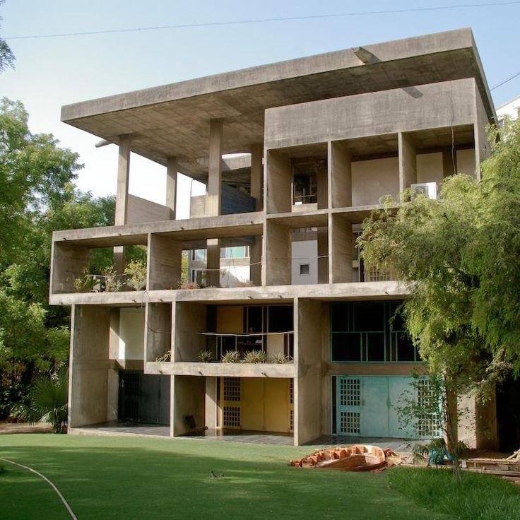 Le Corbusier, The Shodan House Rear Facade, Ahmedabad, India 1956