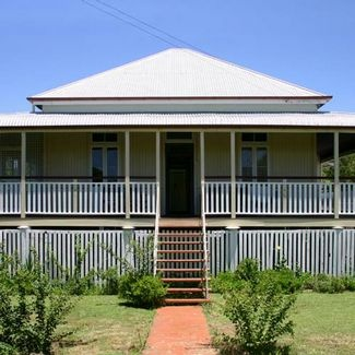 A Queenslander home- very similar to my grandma's house in Australia