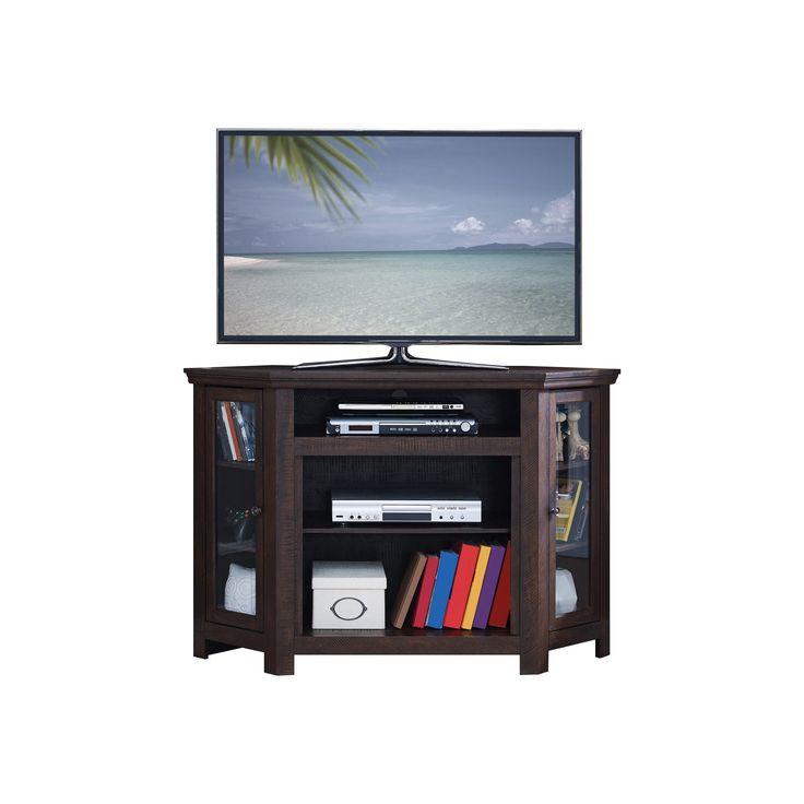 Wood 31.9 Corner TV Stand - Walnut (Brown) - Home Source Industries