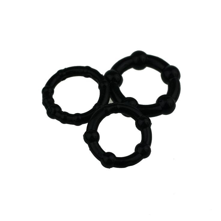 3 ADET Penis Yüzükler cock ring penis Büyütme Cock Yüzükler seks ürünleri Tıbbi Siyah Erkek Seks Oyuncakları