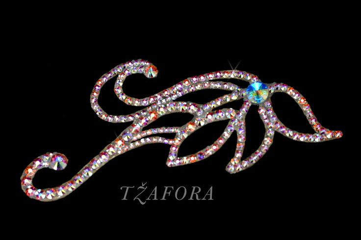 """Jillian"" - Ballroom accessories and ballroom jewelry made with Swarovski, available at www.tzafora.com © 2015 Tzafora. Handmade in Canada."