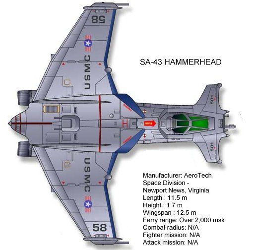 hammerhead space fighter | Endo-Exo Trans-atmospheric Attack Jet