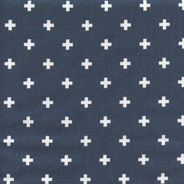 Mini Swiss Cross Premier Navy Cotton Contemporary Drapery Fabric by Premier Prints - 56611 | BuyFabrics.com