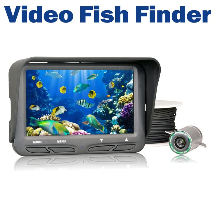 720P Underwater Ice Fishing Camera 4.3 inch LCD Monitor 6 LED Night Vision Video Camera 30m Cable Visual Fish Finder #Affiliate