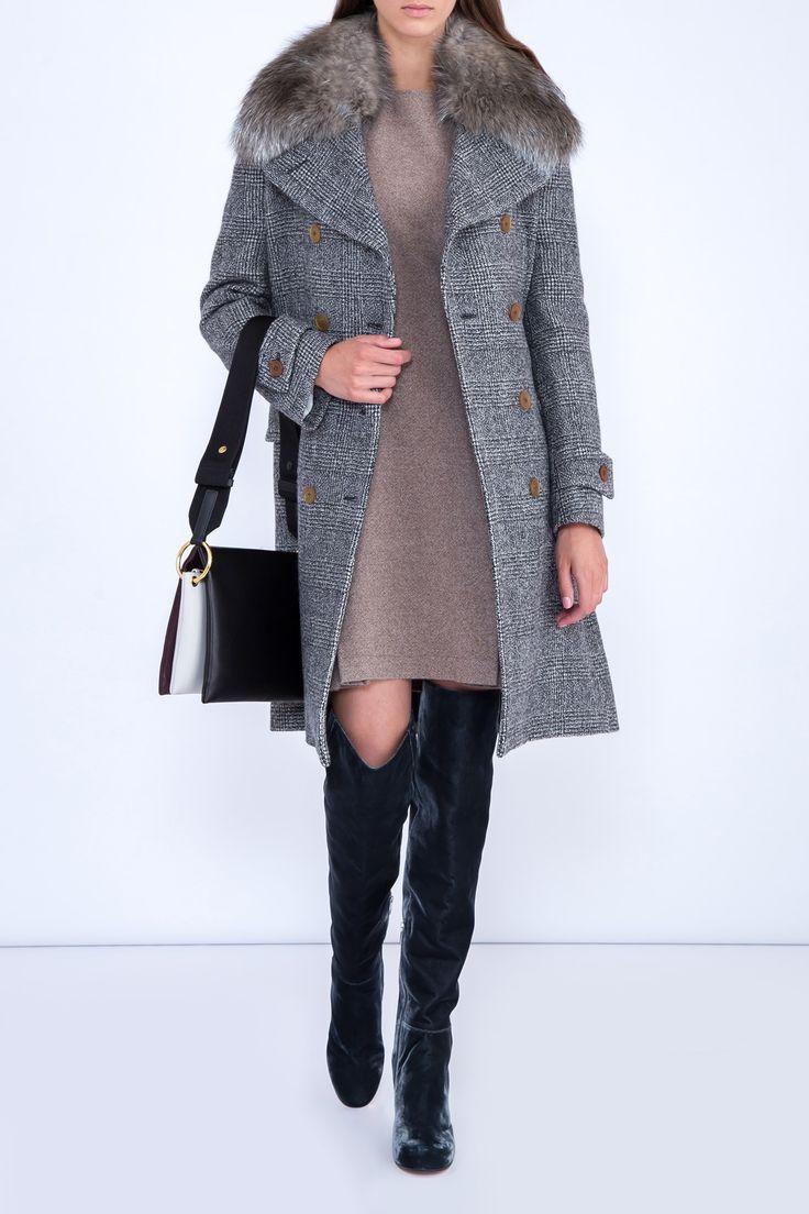Пальто ERMANNO SCERVINO d316d385_g3100 - купить в интернет-магазине Intermoda