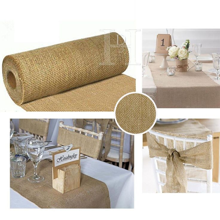 Wedding Hessian Table Runners Cut Edge Decoration Vintage Shabby Chic 9mtrs 29cm in Home, Furniture & DIY, Wedding Supplies, Centerpieces & Table Decor | eBay