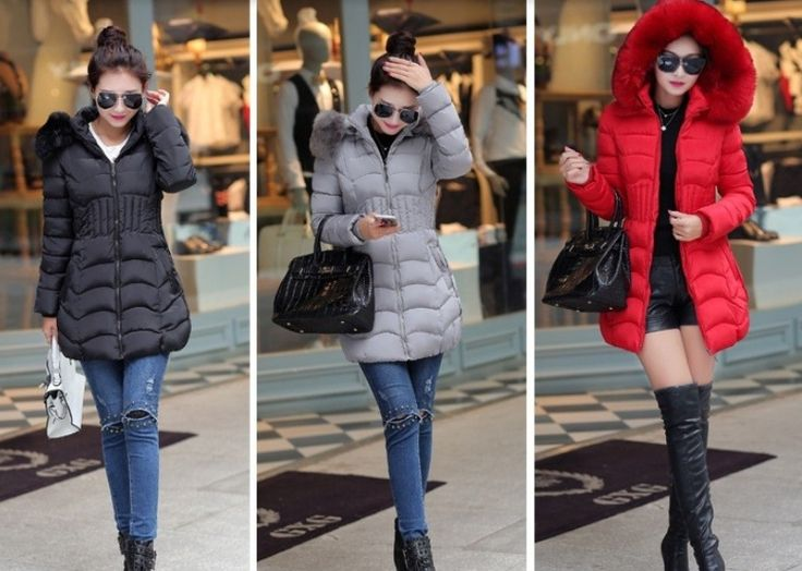 Doudoune longue LEILA, manteau plume femme, veste femme capuche fausse fourrure, blouson femme cintrée