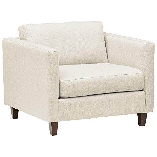 Stone Beam Andover Modern Accent Chair 38 W Sand Living Room