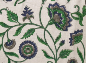 Hand Printed, India Cotton Block Print Fabric. 2½ Yards $25.00 HeritageTrading on ebay.  thats 10 a yard!