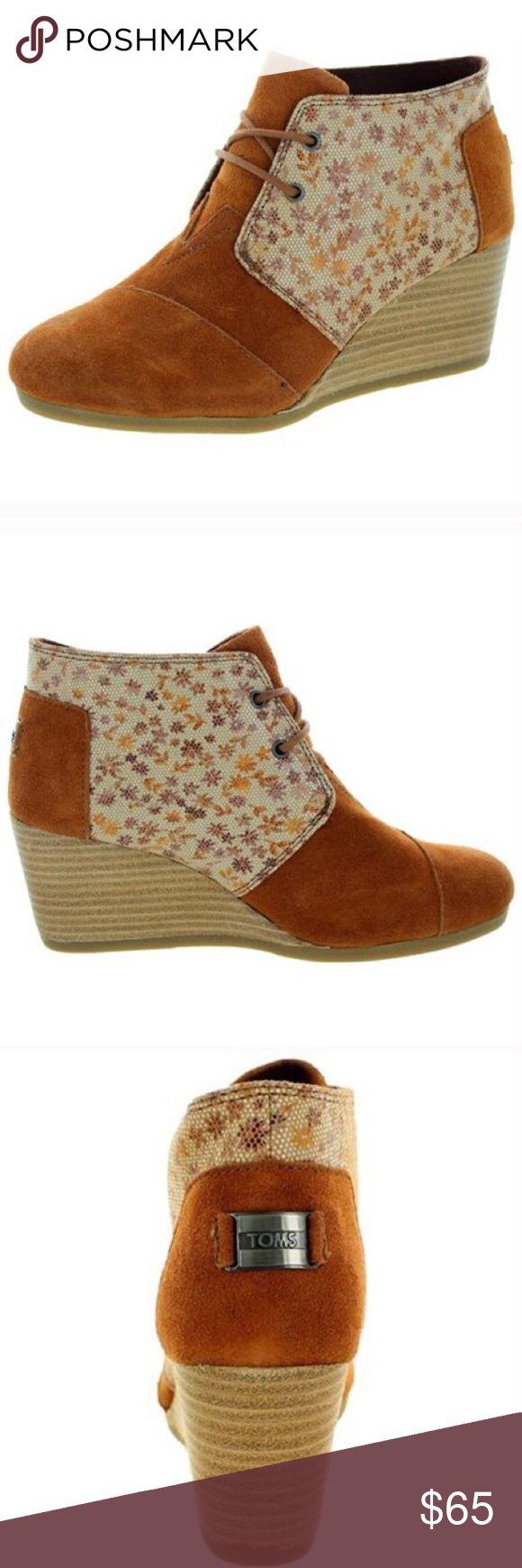 NWOT Toms Desert Wedge Sienna Brown Bootie NWOT Toms Desert Wedge Sienna Brown Bootie TOMS Shoes Ankle Boots & Booties