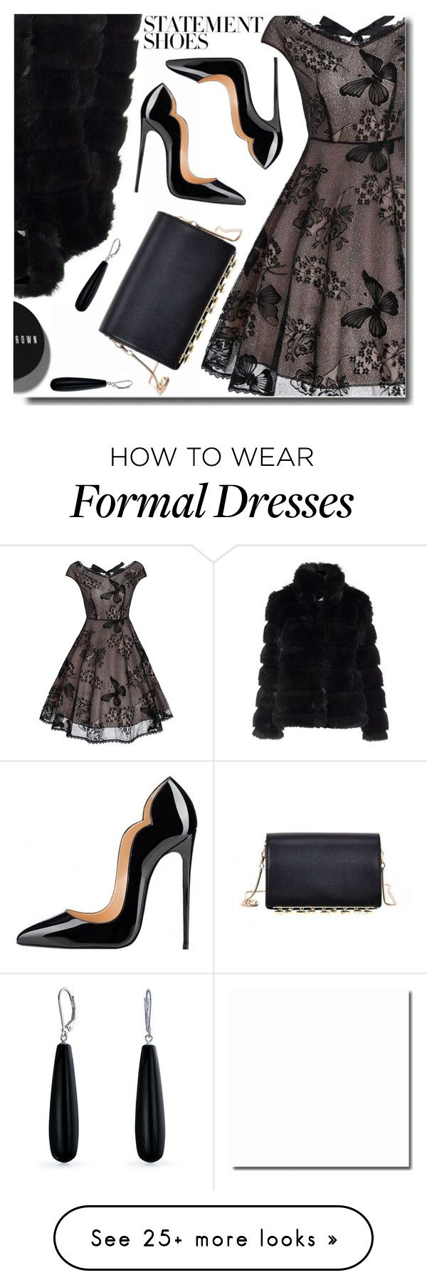 """""""#PolyPresents: Party Dresses"""" by soks on Polyvore featuring Bobbi Brown Cosmetics, Bling Jewelry, contestentry and polyPresents"""