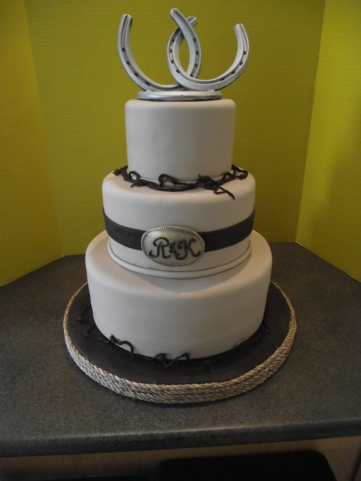 Western Theme Wedding Cake Like Topper