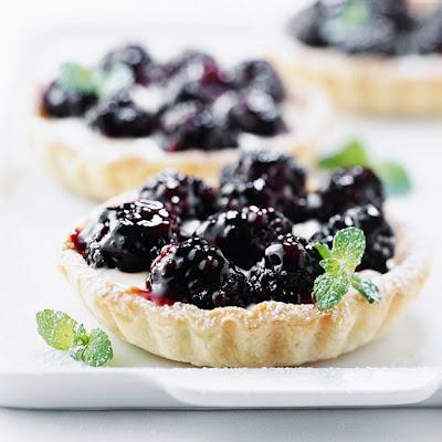 Lemon-Blackberry Mini Tarts