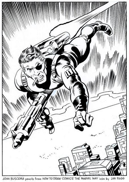 Nick Fury - John Buscema - How To Draw The Marvel Way